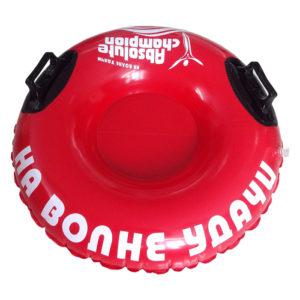 снотьюб 85 см 100 см фото надувной круг матрас для купания в воде и катания по снегу картинка красный надувной круг