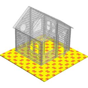 коврик пазловый средний тёплая площадка для игры на свежем воздухе