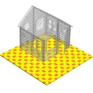коврик пазловый большой площадка для игр и игрового домика