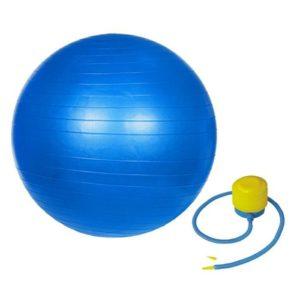 мяч гимнастический 75 см синий для занятий спортом дома и в спорт зале для спины и пресса