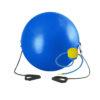 мяч с эспандером 75 см для занятий спортом физкультурой йогой фитнесом дома в школе зале на улице в спорт городке даче саду