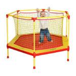 батут манеж 160 см для детей домашний попрыгун с защитной сеткой для дома улицы школа сад фото изображение