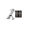 скамья для спины 100 кг гиперэкстензия для прокачки спины пресса ног рук спортзал дома физкультура и зарядка