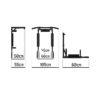 турник мультихват 3в1 чёрный с чёрными неопреновыми ручками фото фотография картинка изображение регулируемая ширина брусьев надёжная сборная конструкция широкий хват кольцо для груши