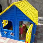 домик леко зелёный с оранжевой крышей фиолетовый с розовой крышей синий с жёлтой крышей фото фотография 120 см изображение картинка детский игровой комплекс всепогодный