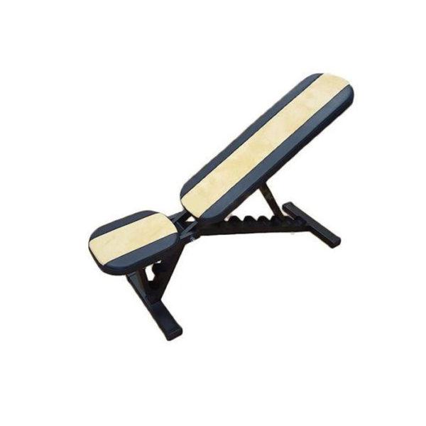 скамья для жима жёлтая нагрузка 350 кг универсальная фото фотография регулируемый угол наклона спинки сидения картинка изображение атлетическая многофункциональная