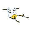 турник мультихват белый жёлтый бело-жёлтый брусья пресс 3в1 фото изображение настенный переворотный 250 кг нагрузка ручки неопрен фотография картинка домашний турник перекладина