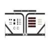 турник профессионал белый настенный тренажёр с нагрузкой до 250 кг кольцо для груши и дополнительного оборудования фото картинка мягкие ручки неопрен фотография изображение перекладина для подтягивания пресса виса