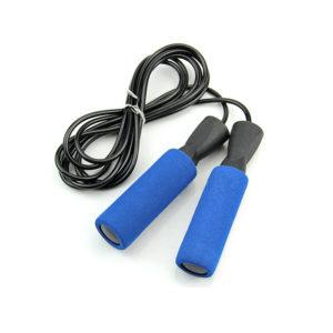 скакалка скоростная на подшипниках 280 см неопреновые ручки удобный хват картинка фотография для фитнеса скипинг прыжки на скакалке