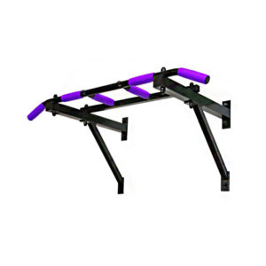 турник трёххватный чёрный фиолетовые ручки для домашних тренировок подтягивания на перекладине фото изображение картинка фотография красивый внешний вид надёжный инвентарь